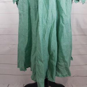 e4d165fd03 120% Lino Dresses - Minty Sage Green Italian Bohemian Linen Dress